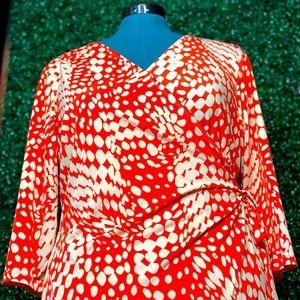 Cato-Polka Dot Wrap Dress